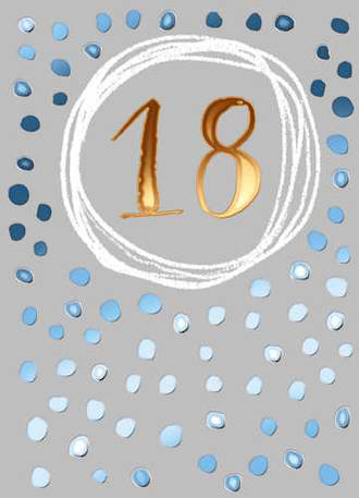 Birthday Age Card 18 Male Paper Gallery
