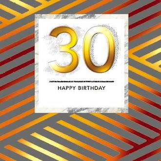 Birthday Age Card 30 Male Paper Gallery Square