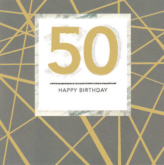 Birthday Age Card 50 Male Paper Gallery Square
