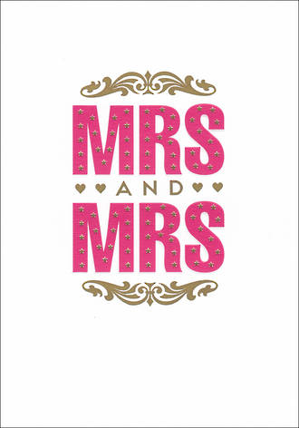 Same Sex Wedding Card Empress Mrs & Mrs