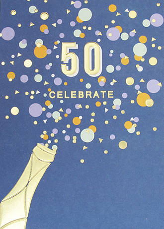 Birthday Age Card 50 Male Apollo