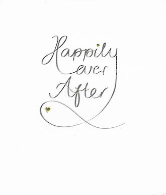 Wedding Card Mimosa Happily Ever After