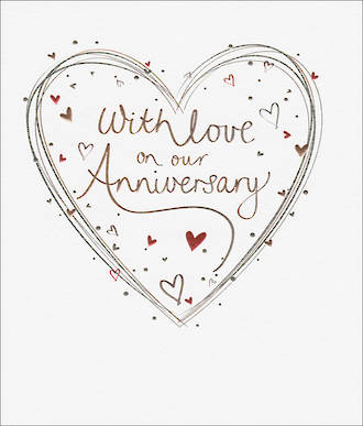 Anniversary Card Mimosa Our Anniversary Hearts