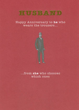 Anniversary Card Husband Mad As Hops Wears Trousers