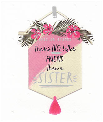 Sister Birthday Card Willow Banner