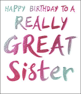 Sister Birthday Card Wow Really Great