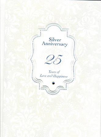 Anniversary Card 25th Silver Gem