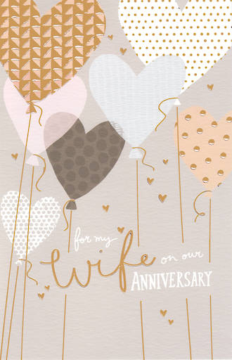 Anniversary Card Wife Capisco Balloons
