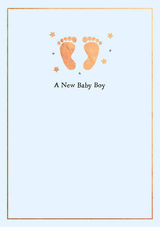 Baby Card Boy Inca Feet