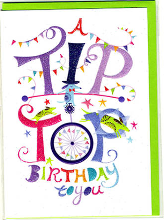 Little Wordy Tip Top Birthday