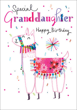 Grandaughter Birthday Card Umami Llama