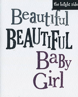 Baby Card Girl Brightside Beautiful