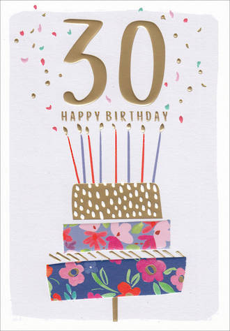 Birthday Age Card 30 Female Kirra Cake