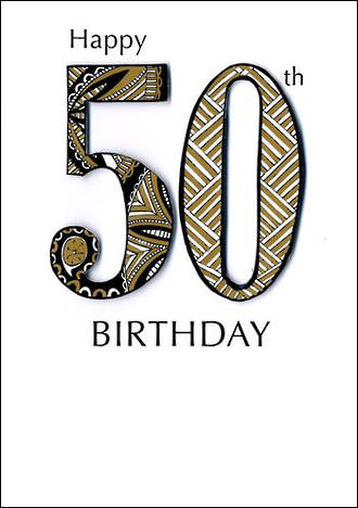Birthday Age Card 50 General Just A Number