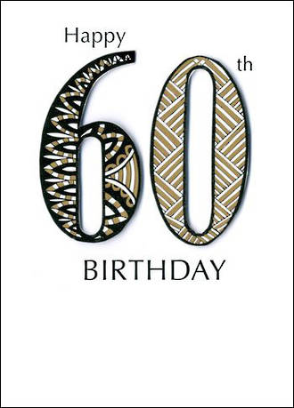 Birthday Age Card 60 General Just A Number