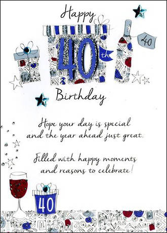Birthday Age Card 40 Male Just To Say
