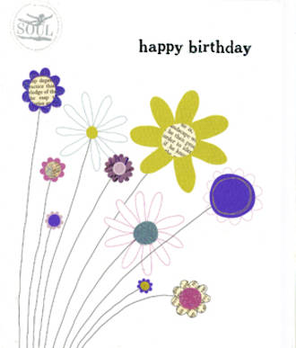Female Birthday Card: Melody Flowers