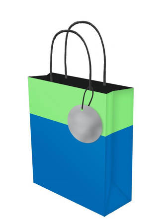 Medium Gift Bag Lollypop Blue Green