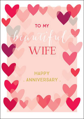 Anniversary Card Wife Ink Beautiful