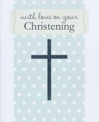Baby Christening Card Rosebud With Love