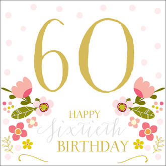 Birthday Age Card 60 Female Rosetta