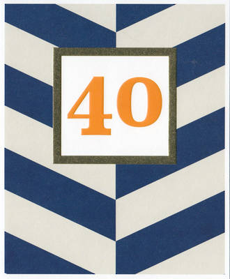 Age Card 40 Male Sasparilla Stripe