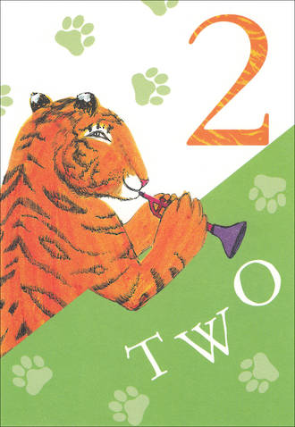 Birthday Age Card 2 Boy Tiger Who Came To Tea