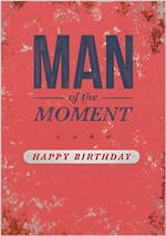 Bold as Brass Birthday Man of Moment