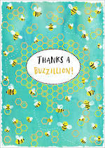 Thank You Card So Much Pun Buzzillion
