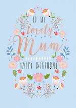 Mum Birthday Card Life & Soul Large Blue