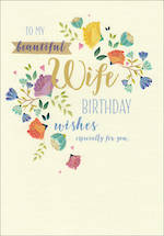 Wife Birthday Card Life & Soul Large