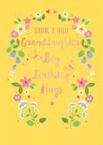 Grandaughter Birthday Card Life & Soul Large Hugs