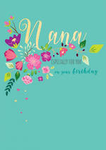 Grandmother Birthday Card Life & Soul Nana Flowers