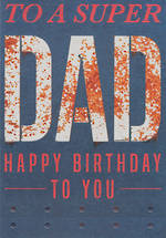 Dad Birthday Card Bold as Brass Super Dad