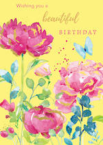 Blooming Botanicals Birthday Yellow
