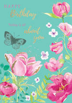 Blooming Botanicals Birthday About You