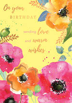 Blooming Botanicals Birthday Warm Wish