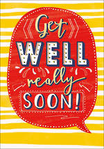 Get Well Card Speech Bubble