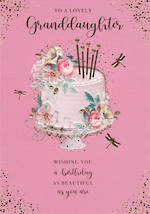 Grandaughter Birthday Card Belgravia Large Cake