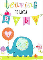 Jumbo Card Leaving To Have A Baby