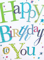 Jumbo Card: Happy Birthday To You