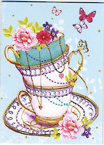 Mini Card: Cup & Flowers