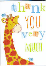 Mini Card Thank You Giraffe