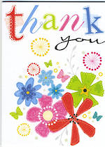 Mini Card Thank You Flowers