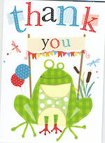 Mini Card Thank You Frog