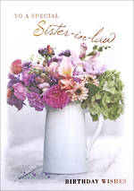 In Laws Birthday Card Sister In Law Posies & Petals
