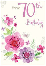 Age Card 70 Female Birthday Tallulah Rose