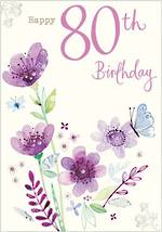 Age Card 80 Female Birthday Tallulah Rose