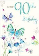Age Card 90 Female Birthday Tallulah Rose