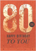 Birthday Age Card 80 Male Rust Iron